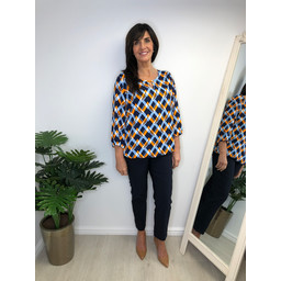 Fransa FR Cageo 2 Blouse - Blue Multi