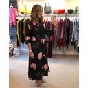 Eleonore Drape Midi Shirt Dress - Black Floral - Alternative 1