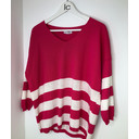 V-neck Striped Jumper - Pink - Alternative 1