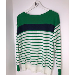 Lucy Cobb Lightweight Striped Jumper - Green
