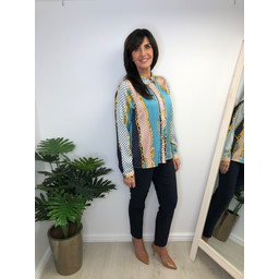 Lucy Cobb Sophie Printed Blouse - Turquoise