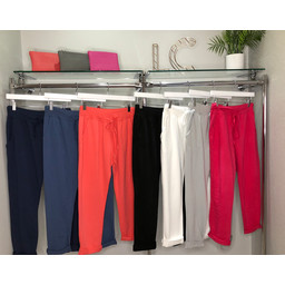Lucy Cobb Ribbed Tie Waist Jogger - Coral