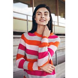Fransa Beragstri Pullover  - Pink