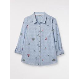 White Stuff Sweet Melody Shirt - Blue Stripe