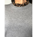 Carrie High Neck Jumper - Grey Animal Print - Alternative 1