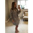 Adele High Neck Dress - Snake Print