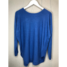 Lucy Cobb Brianne Bow Back Jumper in Blue