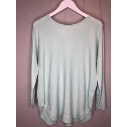 Lucy Cobb Brianne Bow Back Jumper in Mint