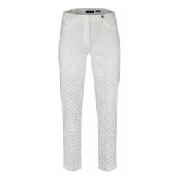 Robell Trousers Bella 09 Silver Spot Trousers - White Spot