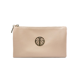 Lucy Cobb Tori Clutch With Strap - Beige
