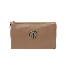 Lucy Cobb Toni Clutch With Strap - Brown