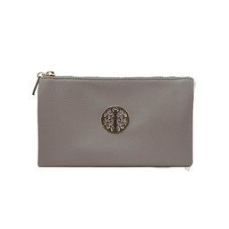 Lucy Cobb Tori Clutch With Strap - Dark Grey