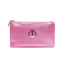 LC Bags Toni Clutch With Strap - Dark Metallic Pink