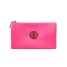 Lucy Cobb Tori Clutch With Strap - Fuchsia