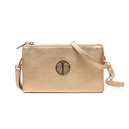 Lucy Cobb Toni Clutch With Strap - Gold