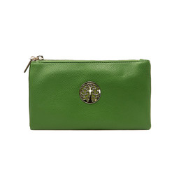 Lucy Cobb Tori Clutch With Strap - Green
