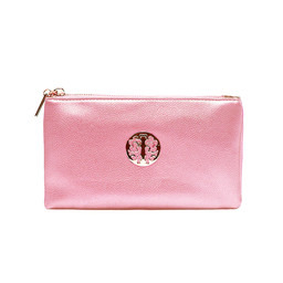 Lucy Cobb Tori Clutch With Strap - Light Metallic Pink