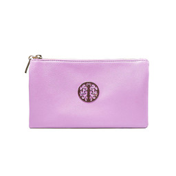 Lucy Cobb Tori Clutch With Strap - Lilac