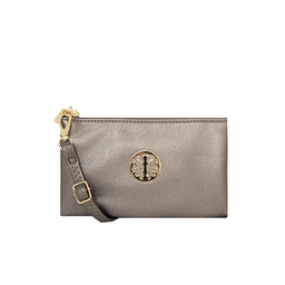 Lucy Cobb Tori Clutch With Strap - Metallic