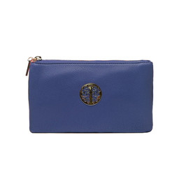 Lucy Cobb Toni Clutch With Strap - Navy