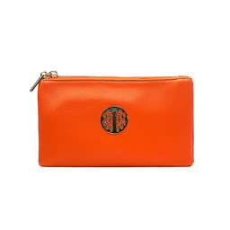 Lucy Cobb Tori Clutch With Strap - Orange