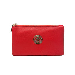 Lucy Cobb Toni Clutch With Strap - Red