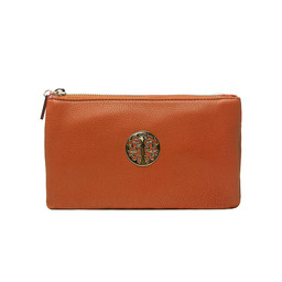 Lucy Cobb Toni Clutch With Strap - Tan