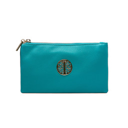 Lucy Cobb Tori Clutch With Strap - Teal