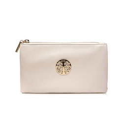 Lucy Cobb Toni Clutch With Strap - White