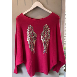 Lucy Cobb Wing Jumper - Pink