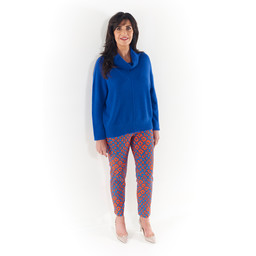 Lucy Cobb Chianti Cowl Neck Jumper - Royal