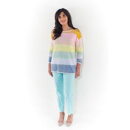 Oui Rainbow Jumper - Multicoloured