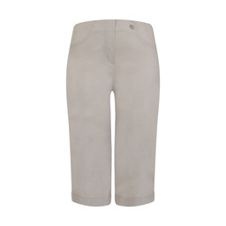 Robell Trousers Bella 05 Bermuda Shorts in Light Grey