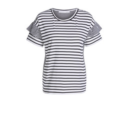 Oui Monochrome Stripe Tee - Black & White