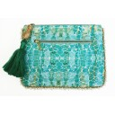 Clutch Bag - Aqua Pebbles - Alternative 1