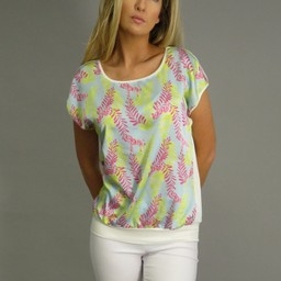 Deck Printed Top - Pink Zebra