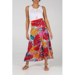 Lucy Cobb Aqua Maxi Wrap Skirt - Aqua Green
