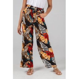 Lucy Cobb Tandy Tropical Print Trousers - Multicoloured