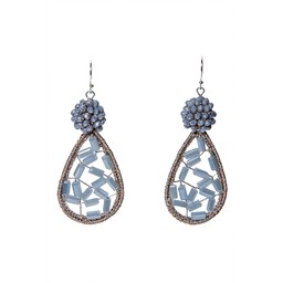 LC Jewellery Barbados Earrings - Grey