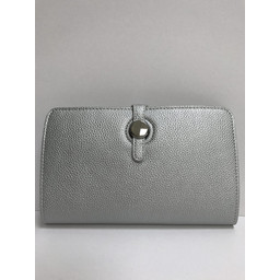 Lucy Cobb Travel Wallet with Purse in Silver