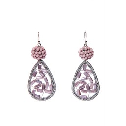 LC Jewellery Barbados Earrings - Purple