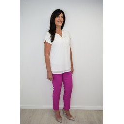 Robell Trousers Rose 09 7/8 Trousers in Orchid Pink