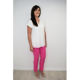 Robell Trousers Rose 09 Trousers - Pink
