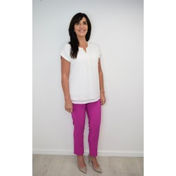 Robell Trousers Bella 09 7/8 Trousers in Orchid Pink