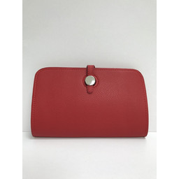 Lucy Cobb Travel Wallet with Purse in Red