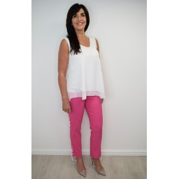 Robell Trousers Rose 09 minimal Design Trousers - Pink