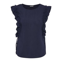 Fransa FR Cafine 2 Blouse - Navy