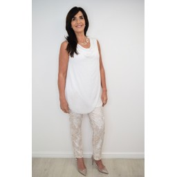 Deck Cowl Top - White