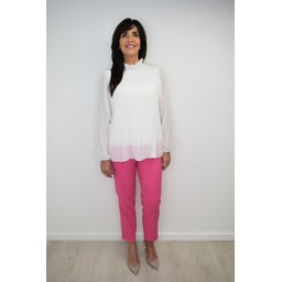 Robell Trousers Bella 09  Minimal Design Trousers in Pink