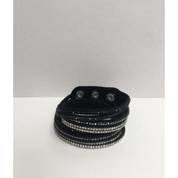 Lucy Cobb Sparkle Choker/Cuff in Black Silver Tri-Colour